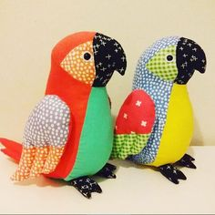 Parrots using our Flurry fabric by Jo Carter, pattern in issue 23 of Love Sewing . @jo2owls #lovesewingmag #dashwoodstudio