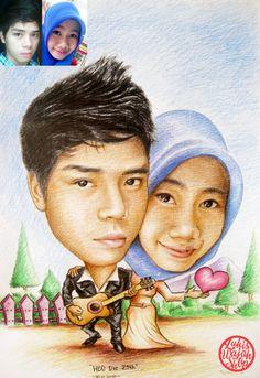 Jasa Karikatur Art portrait caricature handmade