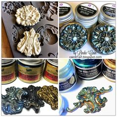 Finnabair paints + IOD moulds = happiness! Greats tips by Linda Cain right here!