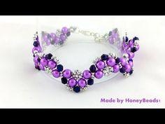 Best Seed Bead Jewelry 2017 Half Moon Bracelet Beading Tutorial by Seed Bead Jewelry, Beaded Jewelry, Fine Jewelry, Handmade Jewelry, Jewelry Making, Flower Jewelry, Seed Beads, Jewelry Patterns, Beading Patterns