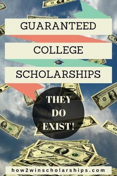 Guaranteed College Scholarships Guaranteed College Scholarships – Yes, they do exist! Here is a website that lists scholarships guaranteed by colleges based on different requirements. – College Scholarships Tips Grants For College, Financial Aid For College, College Planning, Online College, College Hacks, Education College, College Life, College Scholarships, College Ready