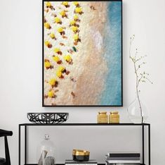 COECLECTIC - Large hand painted artwork on canvas - Playa