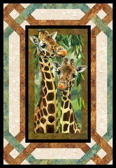 Free Quilt Pattern - Jungle Giraffes - From https://www.equilter.com/pattern/972/jungle-giraffes?fn=pa_20180319194513