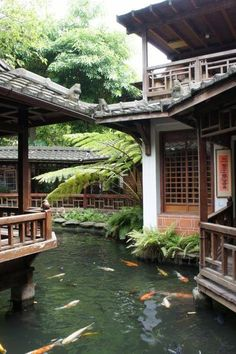 Asian Architecture, Architecture Design, Cultural Architecture, Traditional Japanese House, Japanese Style House, Exterior Design, Future House, Garden Design, Beautiful Places
