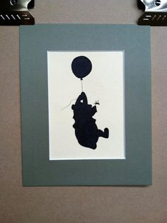 Example Winnie the Pooh silhouette I'd want on the polka dot paper