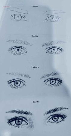 Augen zeichnen - #pencildrawingtutorials