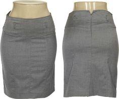 GRASS Chambray Twill Paneled Skirt