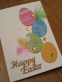 Wie made Easter cards Easter Art, Easter Crafts, Paper Cards, Diy Cards, Diy Easter Cards, Happy Easter Cards, Handmade Easter Cards, Holiday Cards, Christmas Cards