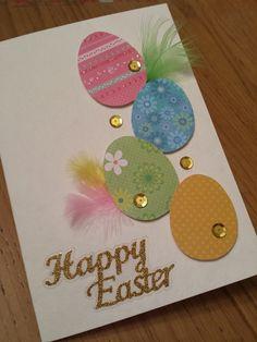 Wie made Easter cards Easter Art, Easter Crafts For Kids, Diy Easter Cards, Happy Easter Cards, Handmade Easter Cards, Holiday Cards, Christmas Cards, Paper Cards, Cards Diy