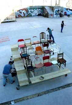 PKMN architectures  . Campo de Cebada Transformer-Bench . Madrid  (1)
