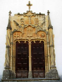University of Coimbra, Portugal--Photo by Graça Vargas Cool Doors, Unique Doors, Gothic Architecture, Architecture Design, Spain And Portugal, Grand Entrance, Door Knockers, Doorway, Stairways