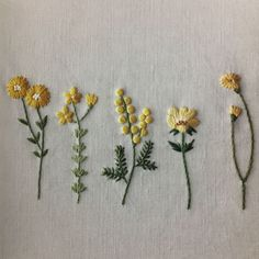 Botanical embroidery by Asaga naoko – Korean edition - Hand Embroidery Stitches Embroidery Flowers Pattern, Embroidery On Clothes, Hand Embroidery Stitches, Embroidery Hoop Art, Hand Embroidery Designs, Floral Embroidery, Embroidered Flowers, T Shirt Embroidery, Embroidered Shirts
