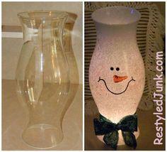 Maria's Mixing Bowl | DIY SNOWMAN HURRICANE SHADE!!