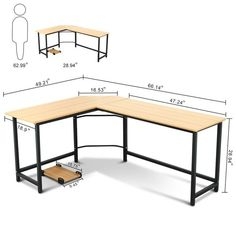 Harkey L-Shaped Computer Desk