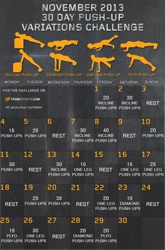 """November Pushup Challenge! Remember that funny song from back in the day, """"I must, I must, I must increase my bust!""""? There was even a dance/exercise to go with it (Thank you Lord Acid). I thought for..."""