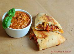 Roshni's Kitchen: Vegan Calzone with Homemade Cashew Pesto Sauce