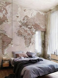 Apartment Inspiration | Guest Room Map - Everyone Pins Where They are From