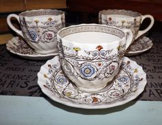 SET of 3 vintage c.1930s Copeland Spode Florence by BuyfromGroovy
