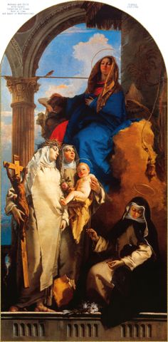 Madonna and Child with Saints Catherine of Siena, Rose of Lima, and Agnes of Montepulciano