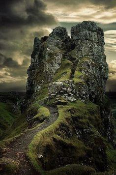 Haunting but beautiful Isle of Skye in Ireland.