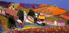 AMBROGIANI Pierre,Village de Provence,