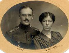 Grand Duchess Olga of Russia with her 2nd husband, a commoner - Nikolai Kulikovsky.