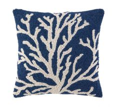 Blue Sea Reef Hooked Beach Pillow buy at Blue Barnacles  www.bluebarnacles.com