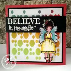 Fabulous Fairy Card by Sam Lewis AKA The Crippled Crafter Birthday Ideas, Birthday Cards, Spectrum Noir, Crafters Companion, Distress Ink, Tim Holtz, Colouring, Fairytale, Ranger