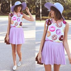 Pastel look book sbout purple lilac fashion