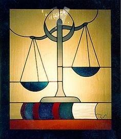 Justice scales, stained glass window, a symbol of law and justice. Stained Glass Designs, Stained Glass Panels, Stained Glass Projects, Stained Glass Patterns, Stained Glass Art, Mosaic Glass, Leadlight Windows, Geometric Shapes Art, Mosaic Garden