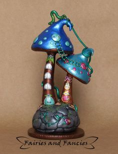Fantasty Fairy Condo Sculpture by fairiesandfancies.deviantart.com on @DeviantArt