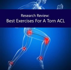 Exercises for torn ACL - improve your recovery from anterior cruciate ligament injury.