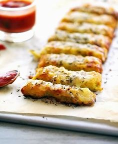 But are they technically breadsticks if there's no bread in them? Get the recipe from The Iron You.   - Delish.com