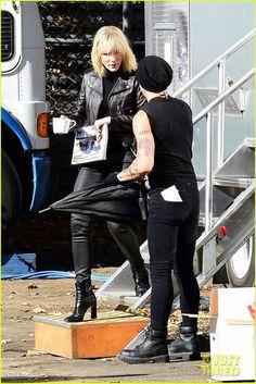 Cate Blanchett on the set of Ocean's Eight  November 8