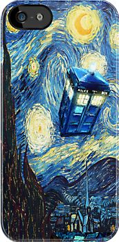 Tardis Doctor Who Starry Night apple iphone 5, iphone 4 4s, iPhone 3Gs, iPod Touch 4g case, Available for T-Shirt man, woman and kids by pointsalestore Corps