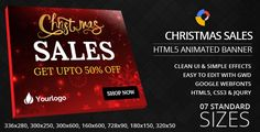 Christmas Sales - HTML5 Ad Banners . Christmas Sales – HTML5 Ad Banners designed with Google Web Designer. And provided 7 popular used sizes in the