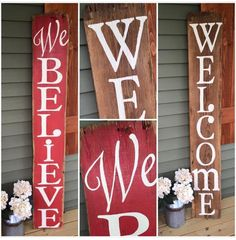 Two-Sided Reclaimed Barnwood Front Porch by ShopSimplyInspired Pallet Christmas, Rustic Christmas, Christmas Crafts, Christmas Decorations, Merry Christmas, Xmas, Pallet Crafts, Wooden Crafts, Holiday Signs