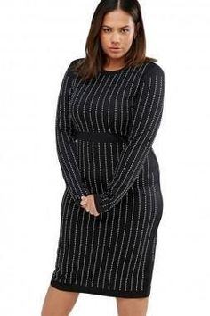 1d908ee836d0f Plus Size Black Studded Cocktail Dress