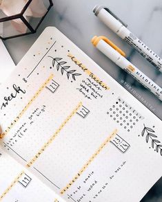 A beautiful, minimal weekly bullet journal spread. ideen bullet journal A beautiful, minimal weekly bullet journal spread. Bullet Journal Inspo, Planner Bullet Journal, Minimalist Bullet Journal, Bullet Journal Aesthetic, Bullet Journal Notebook, Bullet Journal Themes, Bullet Journal Spread, Bullet Journal Layout, Journal Diary