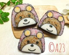 Bear sushi by atsumi tatsumi⭐️ (@atsumitatsumi)