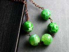 #bridesmaid #necklace #green etsy $39