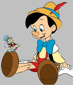 Pinocchio and Jiminy Cricket Clipart - Disney Clipart Galore