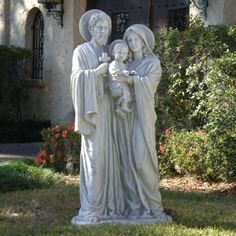 58.5 Religious Catholic Outdoor Garden Statue - Jesus Mary Joseph Sculpture ...  Price : 894.24 http://www.xoticbrands.net/Religious-Catholic-Outdoor-Garden-Statue/dp/B004YPUUAW