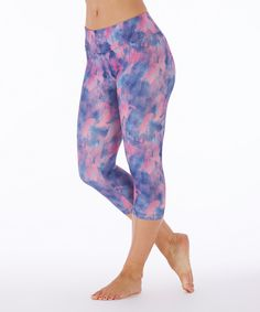 Love this Bally Total Fitness Peacoat Nebula Abstract Capri Leggings by Bally Total Fitness on #zulily! #zulilyfinds