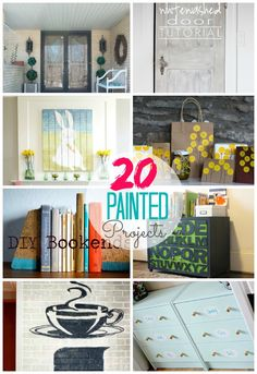 Update your home easily with these 20 DIY Painted Projects!! -- Tatertots and Jello