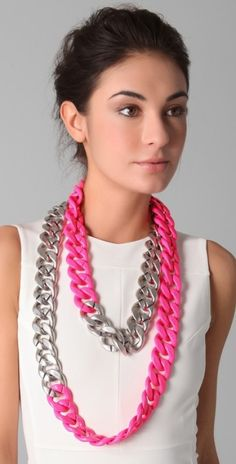 """They said """"diy neon necklace"""".  I said """"I don't think anyone on earth has ever been young enough to wear this as jewellery""""."""