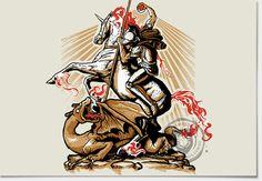 Charizard o dragão de São Jorge.