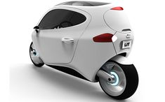 'C-1' by lit motors is a gyroscopically stabilized electric urban vehicle combining the efficiency and small size of a motorcycle with the safety and durability of a car