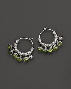Paul Morelli Silver and Peridot Hoop Earrings <3