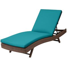 "Improvements Sun Lounger Cushion 76""x23-1/2""x3"" - Bahama Blue (10140 RSD) ❤ liked on Polyvore featuring home, outdoors, outdoor decor, 530652, outdoor cushion sets, blue box, outdoor garden decor, outdoor box and colored boxes"